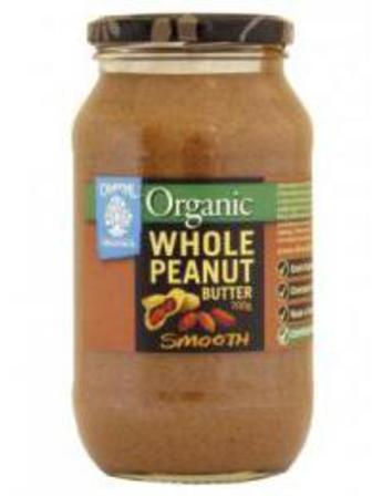 Chantal Organics Peanut Butter Whole Smooth 700g