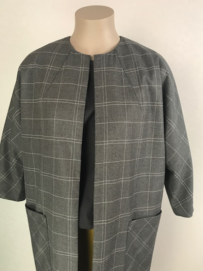 Charcoal plaid Duster coat