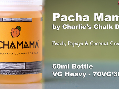 Pacha Mama - Peach, Papaya & Coconut Cream - 60ml - e-Liquid