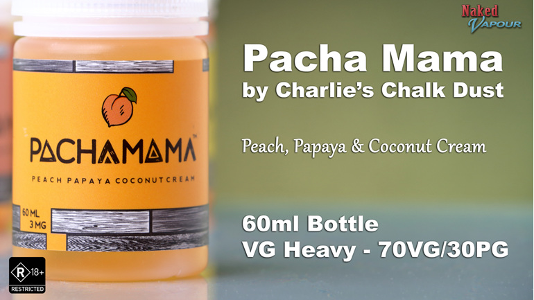 Charlie's Chalk Dust - Pacha Mama - Peach, Papaya & Coconut Cream