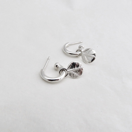 Charm Hoops - Leafy Dots