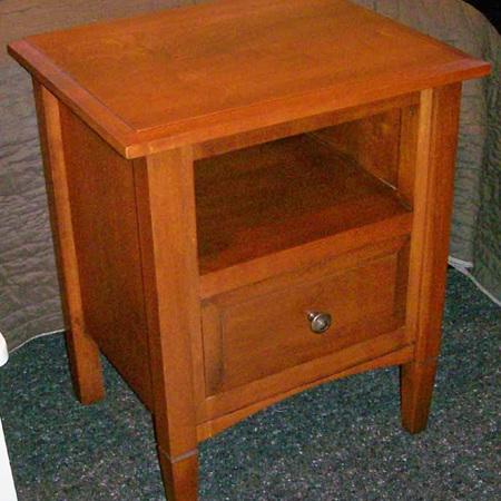 Charters Bedside Cabinet Shelf & Drawer
