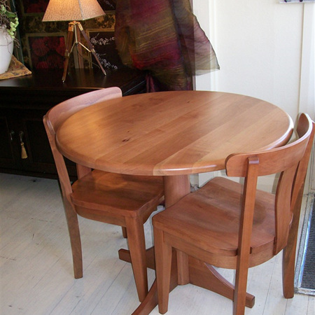 Charters Round Cafe Dining Table - Plain Top