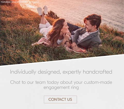 Chat to our team about your custom designed engagement ring