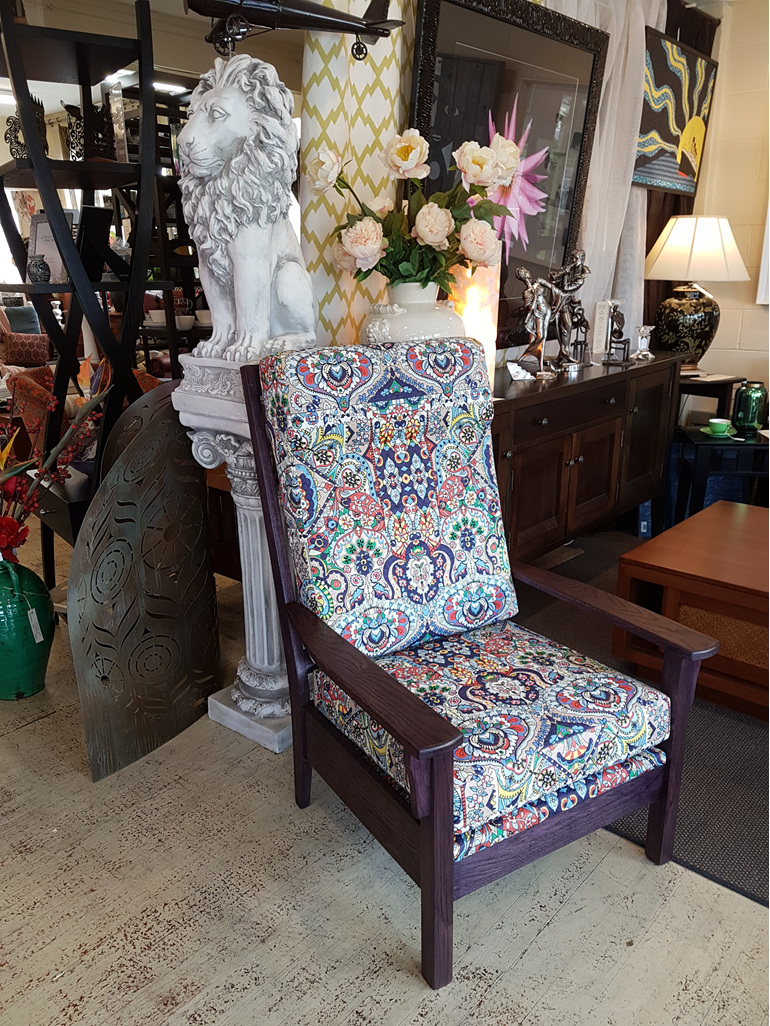 Chatsworth Chair Purple Stain in Oak  New Zealand Made to Order