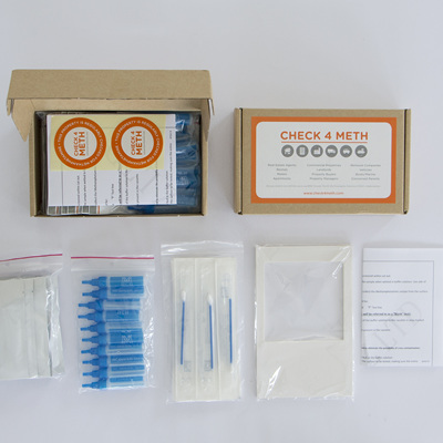 CHECK4METH  Meth Screening  Kit - 10 tests 0.5ug/100cm2 level
