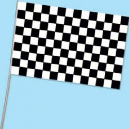 Checkered flag - plastic 28cm x 42 cm