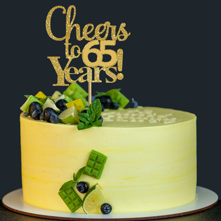 Cheers to .... (any age) Years  Cake Topper