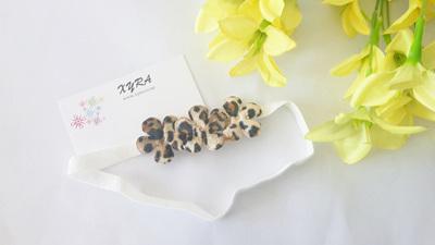 Cheetah Flower Head Band