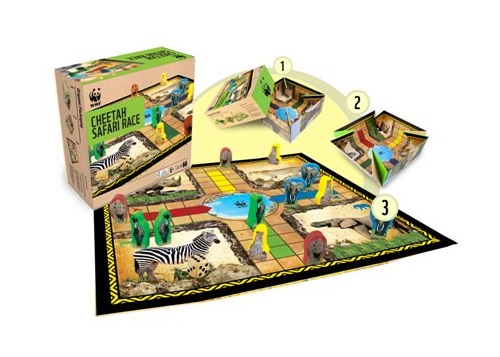 Cheetah Safari Race board game