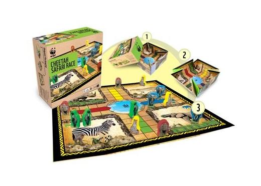 Cheetah Safari Race board game