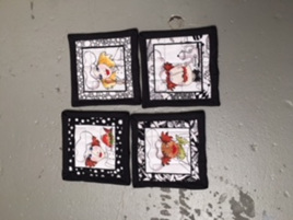 Chef Coasters - Set of 4