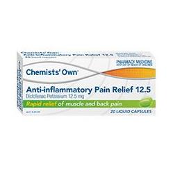 CHEMISTS' OWN ANTI-INFLAMMATORY PAIN RELIEF 12.5MG LIQUID CAPSULES 20