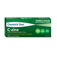 CHEMISTS' OWN C ZINE 10MG TABLETS 10 PACK