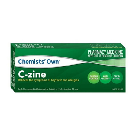 Chemists' Own C-Zine 10mg Tablets 50 Pack
