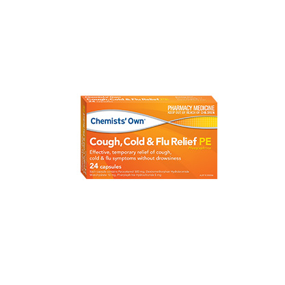 CHEMISTS' OWN COLD & FLU & COUGH DAY & NIGHT PE 24 CAPSULES