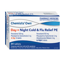 CHEMISTS' OWN COLD & FLU DAY PE 24 CAPSULES