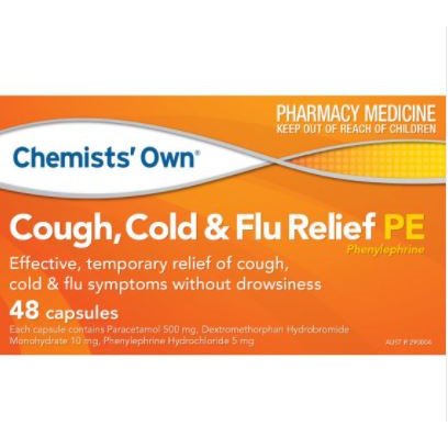 CHEMISTS' OWN COUGH COLD & FLU RELIEF PE 48 CAPSULES