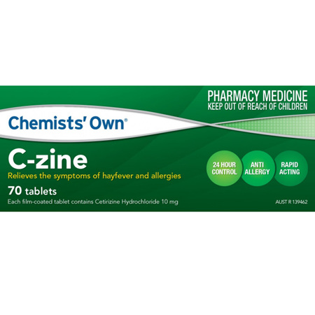 CHEMISTS' OWN CZINE TABLETS 10MG 70 PACK