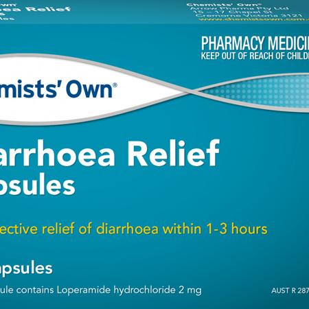 Chemists' Own Diarrhoea Relief 20 Capsules