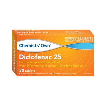 CHEMIST's OWN DICLOFENAC 25 TAB 30