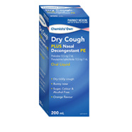 CHEMISTS' OWN DRY COUGH FORTE +NASAL CONGESTION 200ML