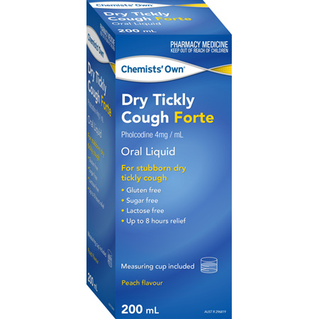 Chemists' Own Dry Tickly Cough Forte 200mL