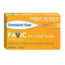 CHEMISTS' OWN FAVIC FOR COLDSORES 3 TABLETS