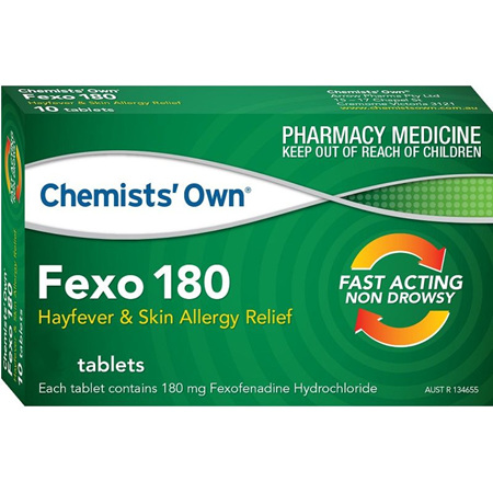Chemists' Own Fexo 180mg Tablets 10 Pack