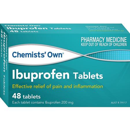 Chemists' Own Ibuprofen 200mg 48 Tablets