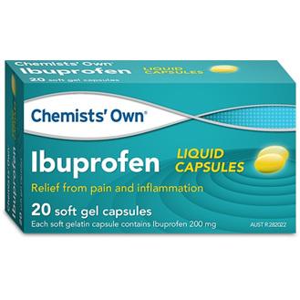 Chemists' Own Ibuprofen 200mg Liquid Capsules 20 Pack