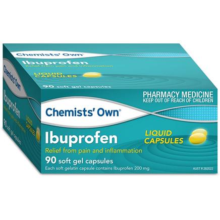 Chemists' Own Ibuprofen 200mg Liquid Capsules 90 Pack