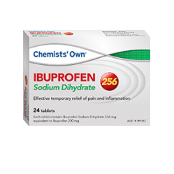 CHEMISTS' OWN IBUPROFEN SODIUM DIHYDRATE 256 24 TABLETS