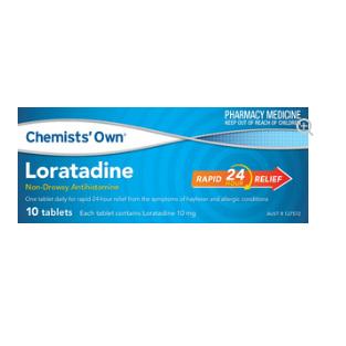 CHEMISTS' OWN LORATADINE 10MG 10 TABLETS