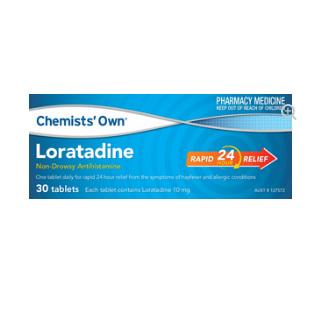 CHEMISTS' OWN LORATADINE 10MG 30 TABLETS