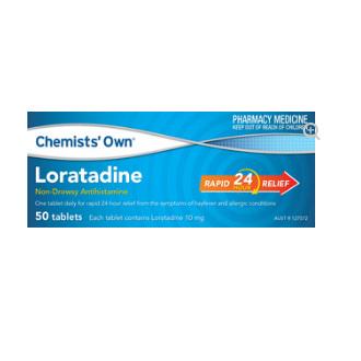 CHEMISTS' OWN LORATADINE 50 TABLETS