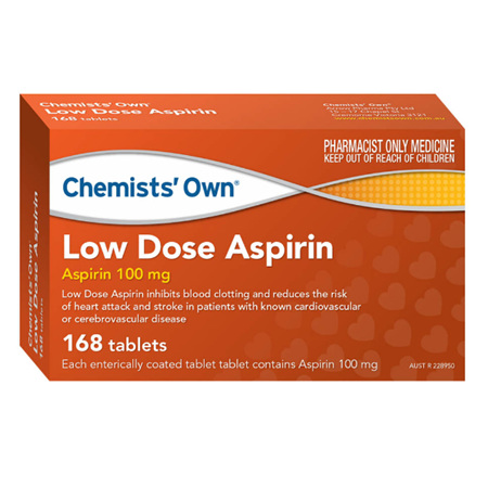 CHEMISTS' OWN LOW DOSE ASPIRIN 168 TABLETS