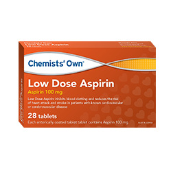 CHEMISTS' OWN LOW DOSE ASPIRIN 28 TABLETS