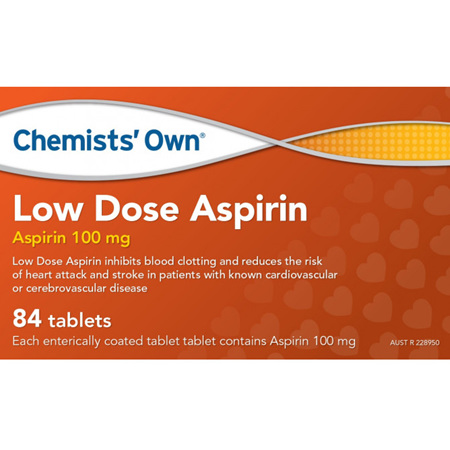 CHEMISTS' OWN LOW DOSE ASPIRIN 84 TABLETS