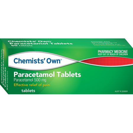 Chemists' Own Paracetamol 500mg Tablets 50 Pack