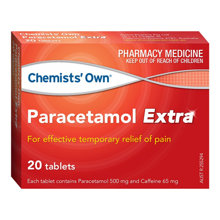 Chemists' Own Paracetamol Extra 500mg/65mg Tablets 20 pack