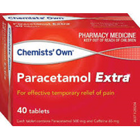 Chemists' Own Paracetamol Extra 500mg/65mg Tablets 40 pack