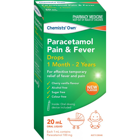 Chemists' Own Paracetamol Pain & Fever 1 Month - 2 Years 20mL