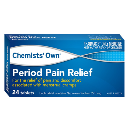 CHEMISTS' OWN PERIOD PAIN 24 TABLETS