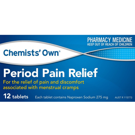 CHEMISTS' OWN PERIOD PAIN RELIEF 12 TABLETS