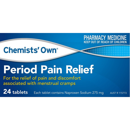 Chemists' Own Period Pain Relief 275mg Tablets 24 Pack