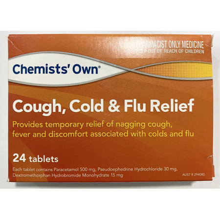 CHEMISTS' OWN PSE COUGH COLD & FLU  DAY 24 TABLETS