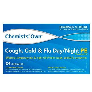 CHEMISTS' OWN  PSEUDOEPHIDRINE COUGH COLD & FLU  DAY & NIGHT TABLETS 24