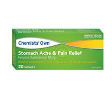 CHEMISTS' OWN STOMACH ACHE & PAIN 20 TABLETS