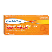 CHEMISTS' OWN STOMACH ACHE & PAIN DOUBLE STRENGTH 10 TABLETS